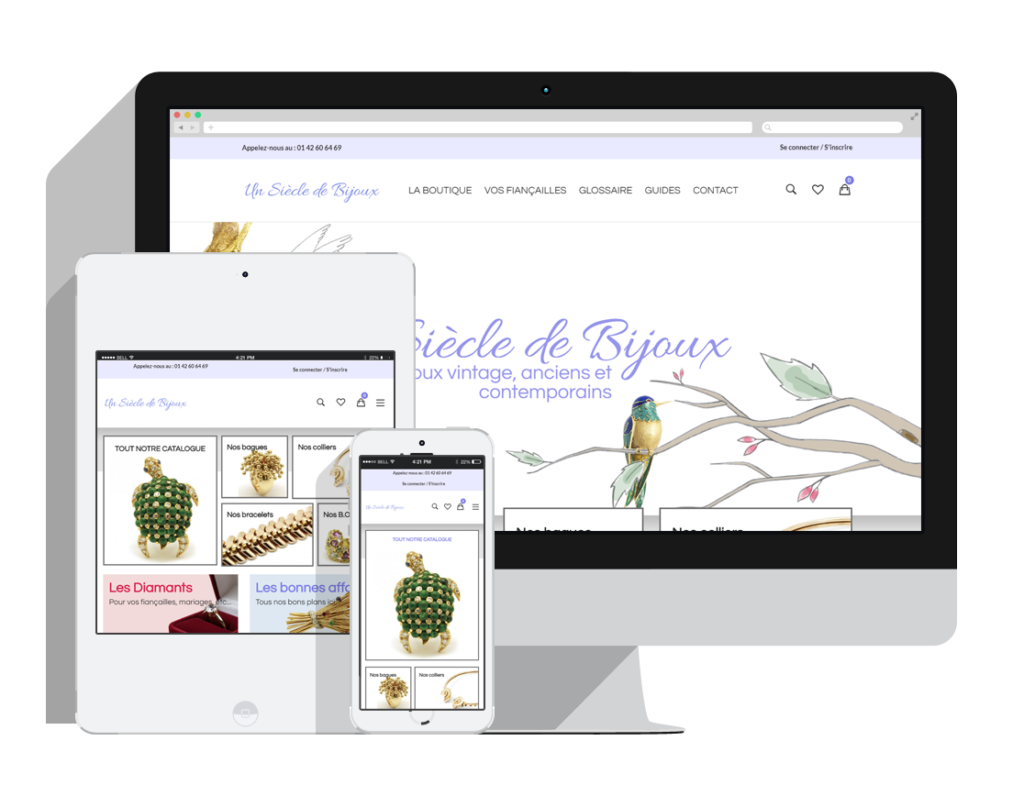 Site e-commerce de bijoux prestashop